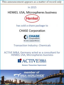 ACTIVE M&A, Germany acted as a consultant for HENKEL USA