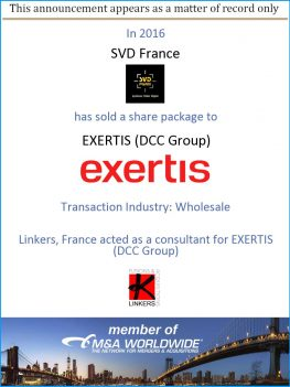 Linkers, France acted as a consultant for EXERTIS